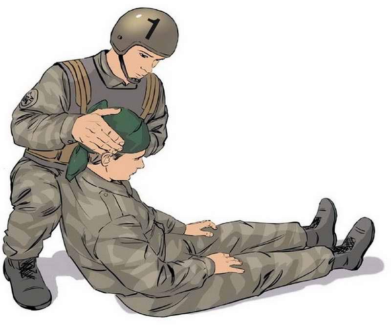 Оказание помощи в случае ранения головы - 2