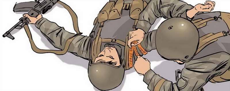 Оказание первой помощи бойцу с ранением в руку - 3