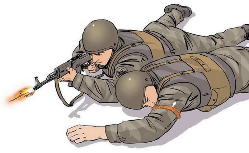 Оказание первой помощи бойцу с ранением в руку - 4