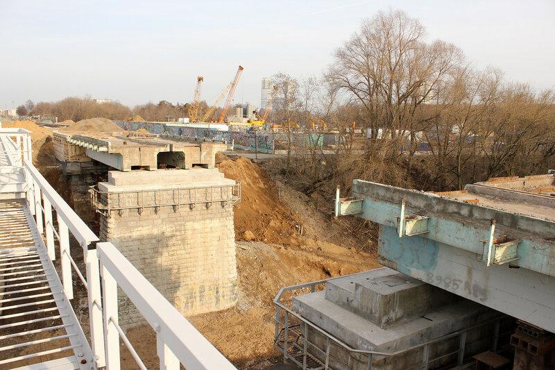 Мост через Яузу, перегон ростокино - Владыкино