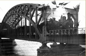 Новый железнодорожный мост через Даугаву. 1914