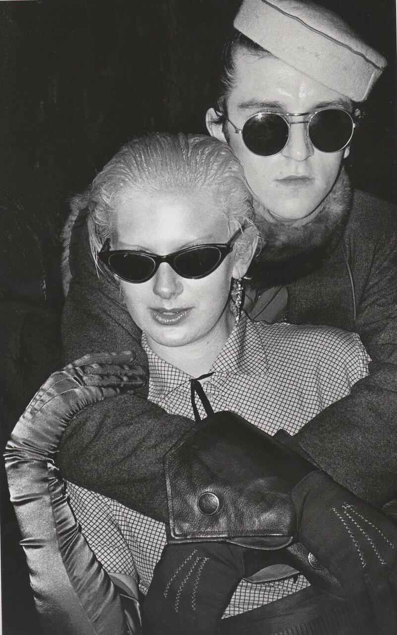 1979. Стив с подругой на вечеринке «David Bowie night» в «Billys»