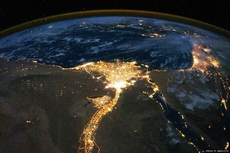 3. Дельта реки Нил ночью
