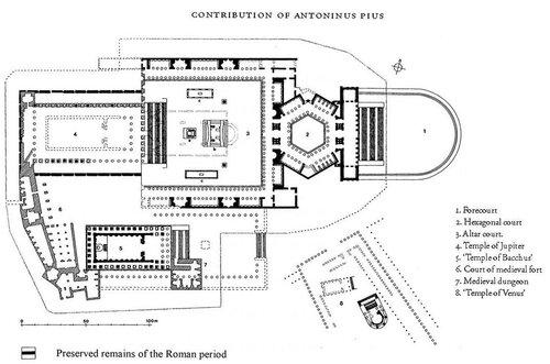 Храмовый ансамбль сирийского Гелиополя (Гелиополиса, города солнца), план