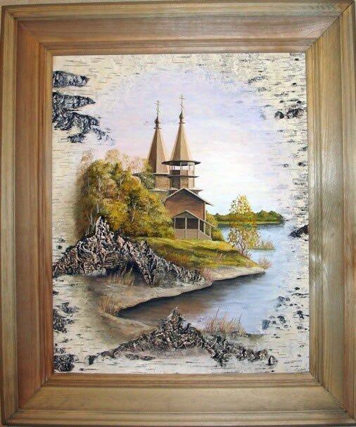 Картины на бересте Сергея Сурина