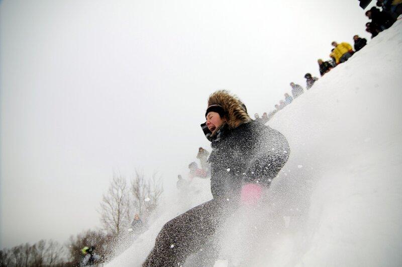 Московские ежегодные гонки на тазах