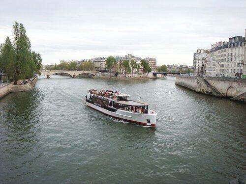 корабль, сена, париж, франция