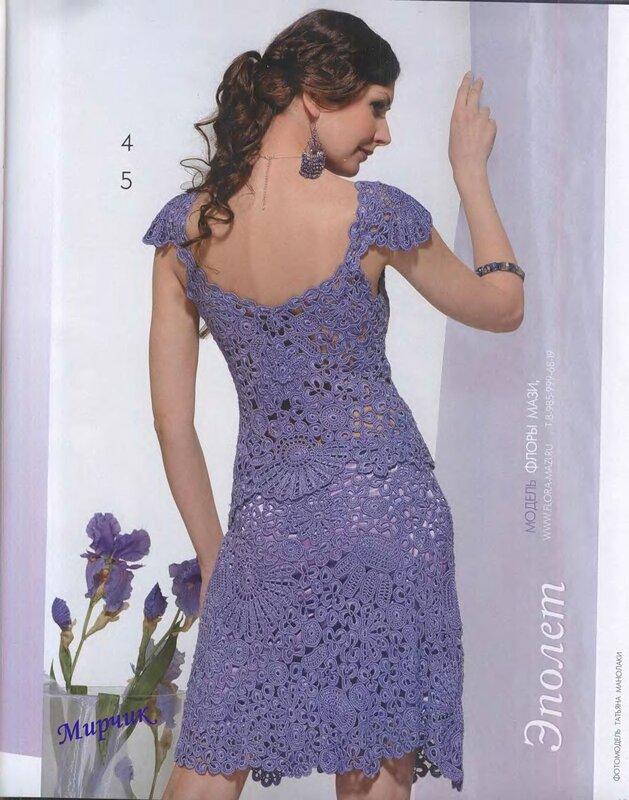 Вязание платьев и юбок