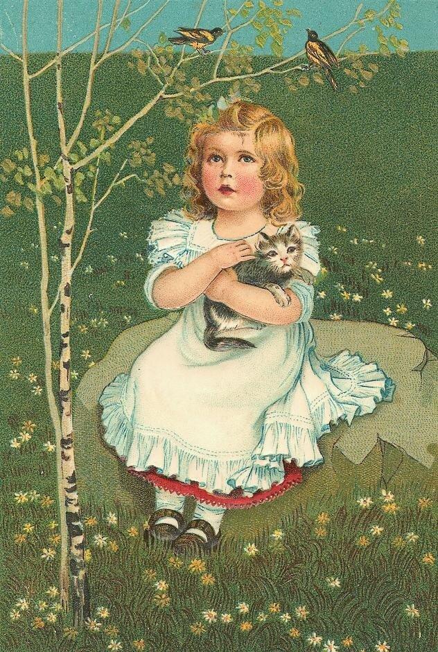 Старые открытки детей