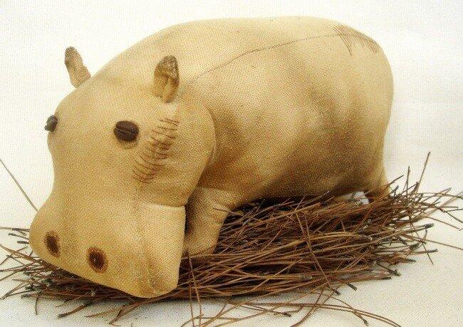 Мягкие игрушки своими руками: выкройка бегемота