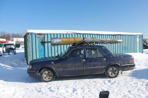 "перевозка руля направления Ил-14Т на ""Волге"""