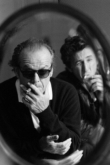 actors Nicholson & Penn 1995