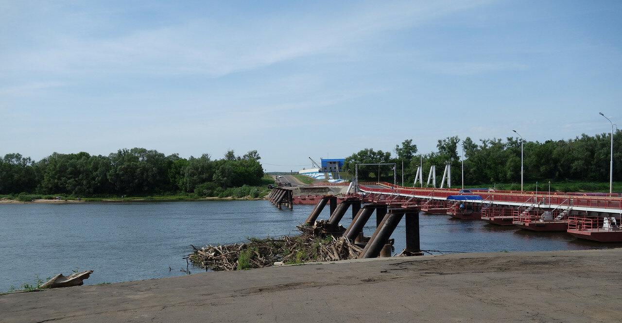 наплавной мост через Оку у Озер