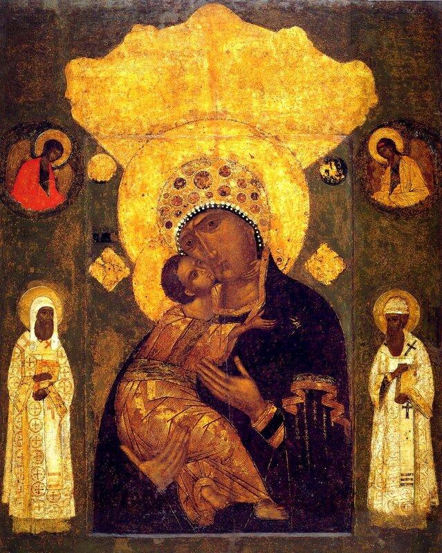 Чудотворная Волоколамская икона Божией Матери. XVI век.