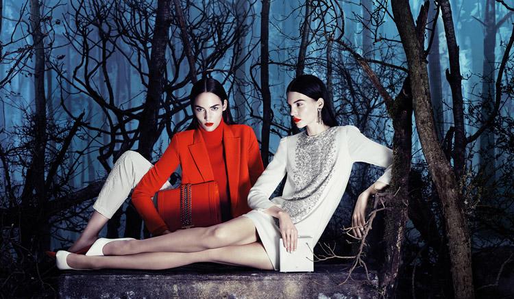Катя Богучарская и Зузанна Биёх в фотосессии для Elisabetta Franchi