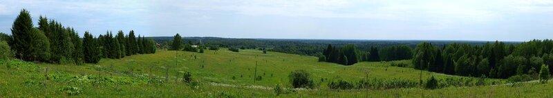 панорама речной долины Вятки за Омутнинском