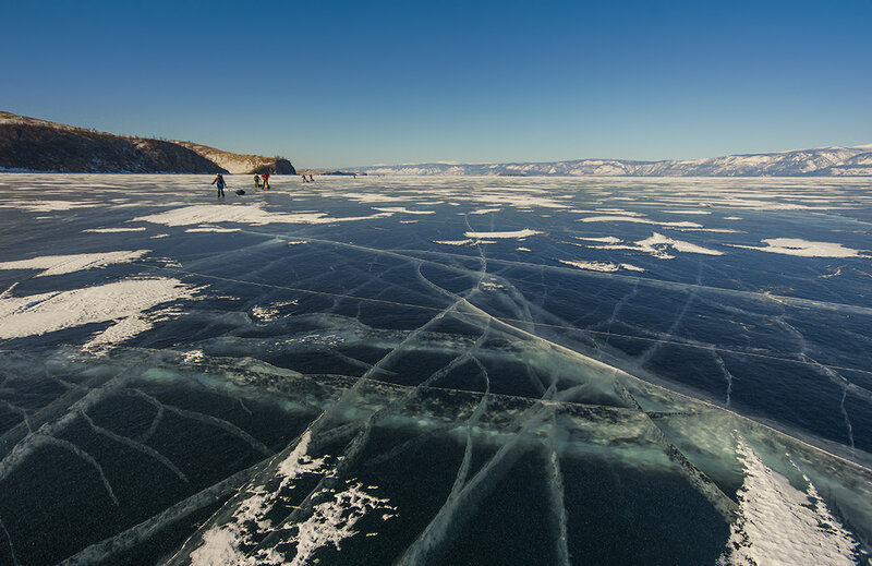По льду Байкала