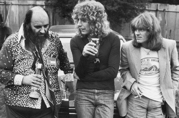 Peter Grant Robert Plant John Paul Jones  Led Zeppelin