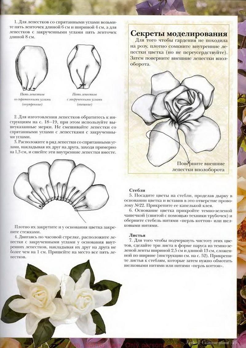 Мастер-класс изготовление цветов из ленточек