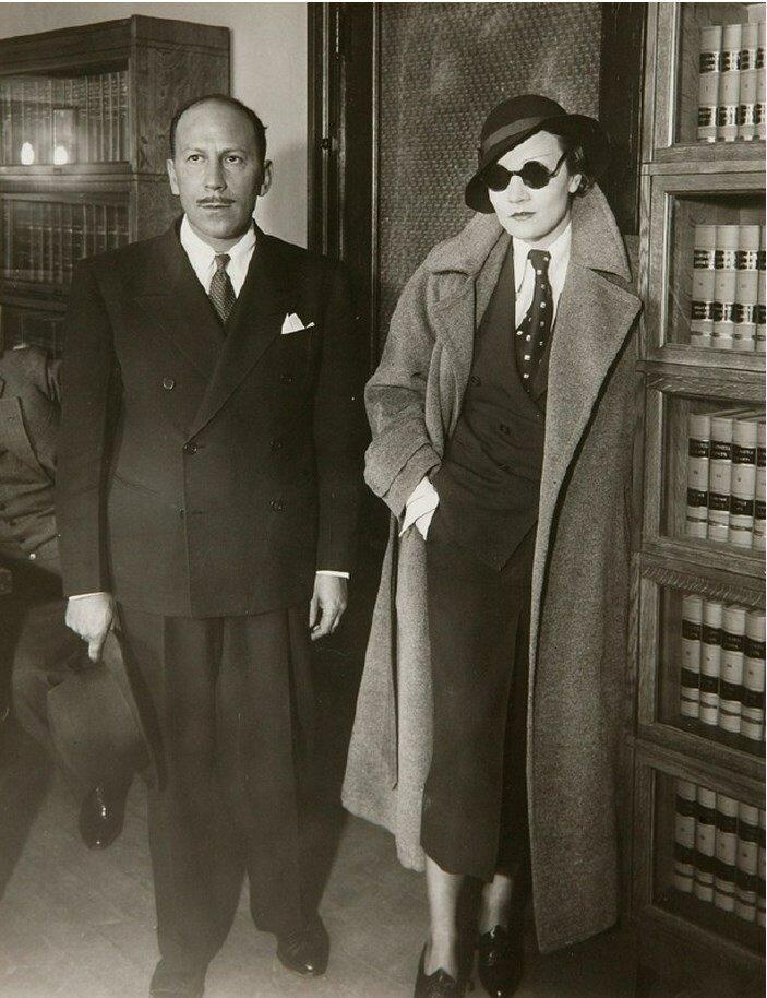 1933. Марлен Дитрих в Лос Анджелесе