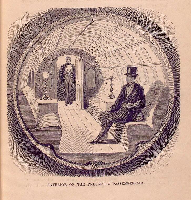 Оригинал взят у kudinov_da в Пневматическая подземка 1870 года Любопытный проект 1870 года для нужд Нью-Йорка.
