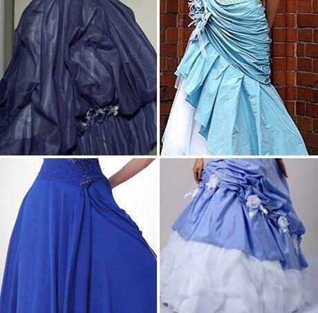 Выбираем синее свадебное платье