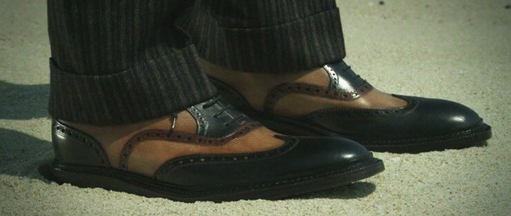 Туфли Мужские Двухцветные