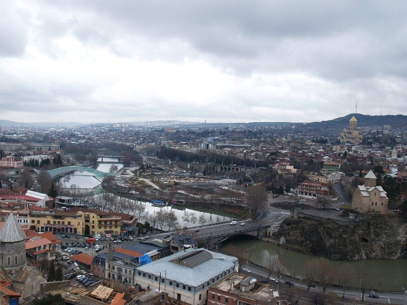 View of Tbilisi from the Narikala fortress