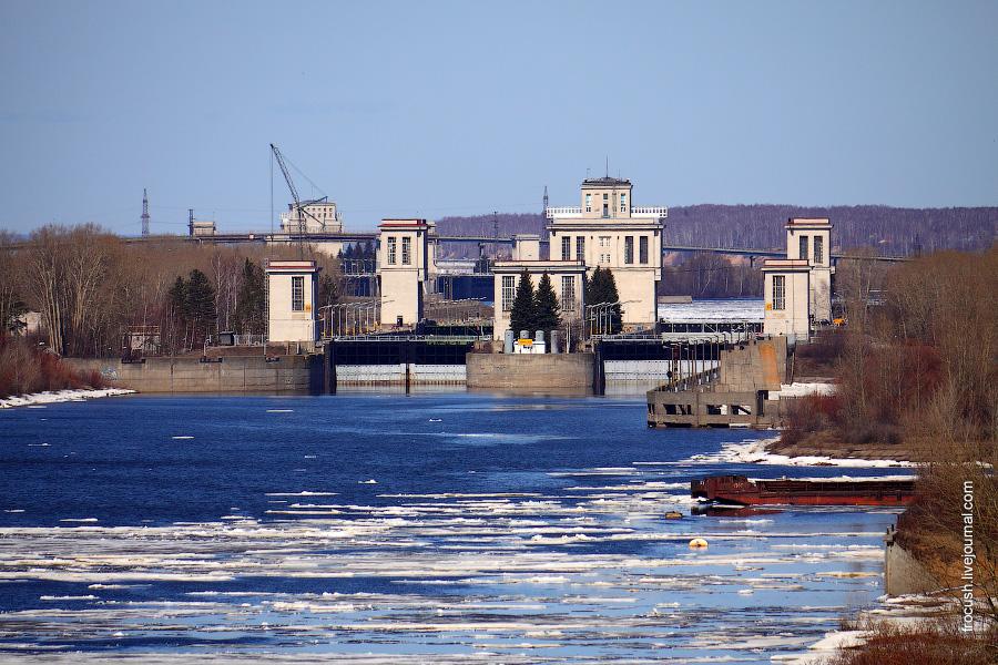 Шлюзы №15 и №16 Городецкого гидроузла