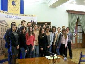 Moscou, le 10 mars 2011 - Échange étudiant France-Russie
