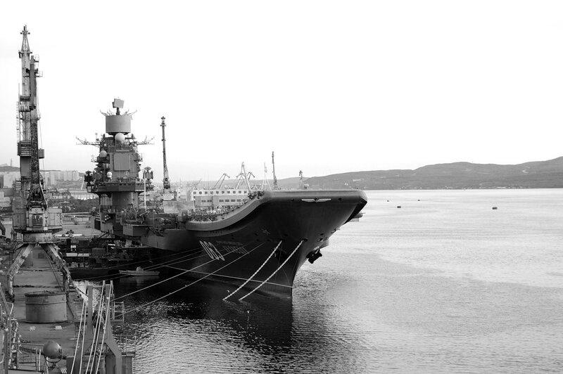 ТАКР пр.1143.5 «Адмирал Кузнецов» у причала.