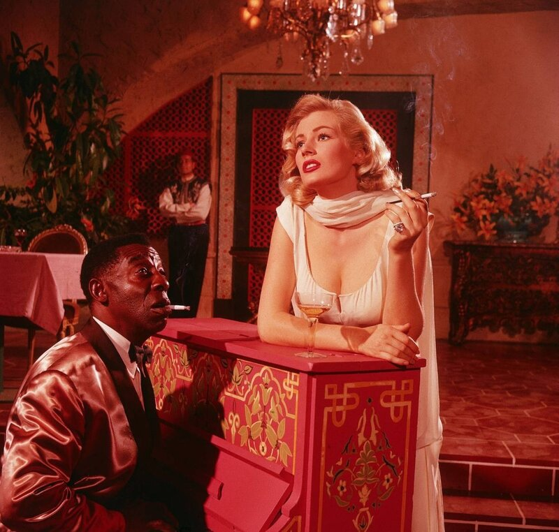 Casablanca.Anita Ekberg and Clarence Muse