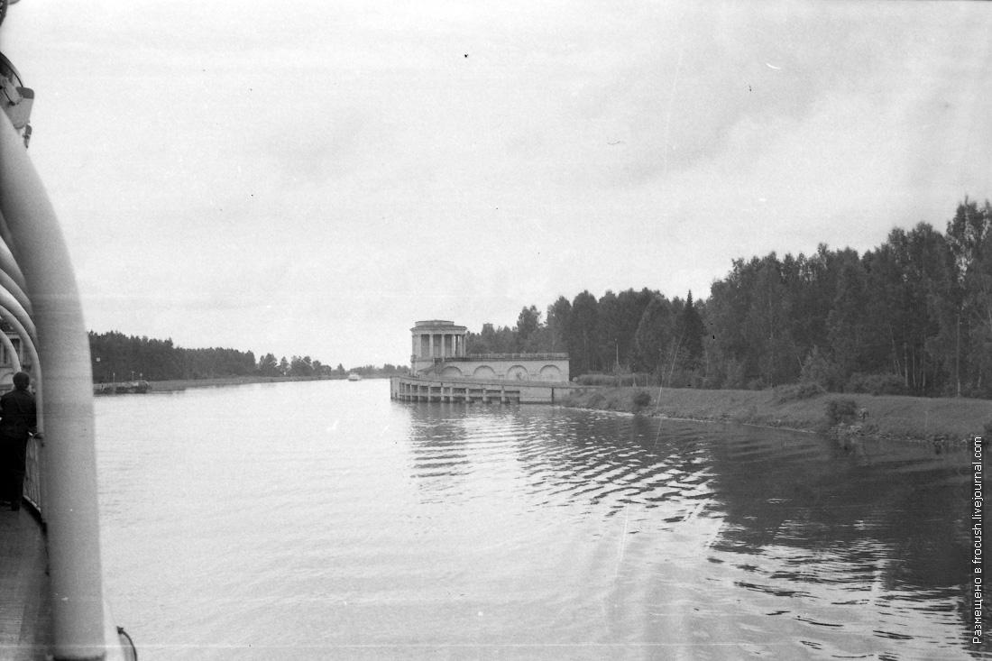 фотография 1985 года Канал имени Москвы. Заградворота №104