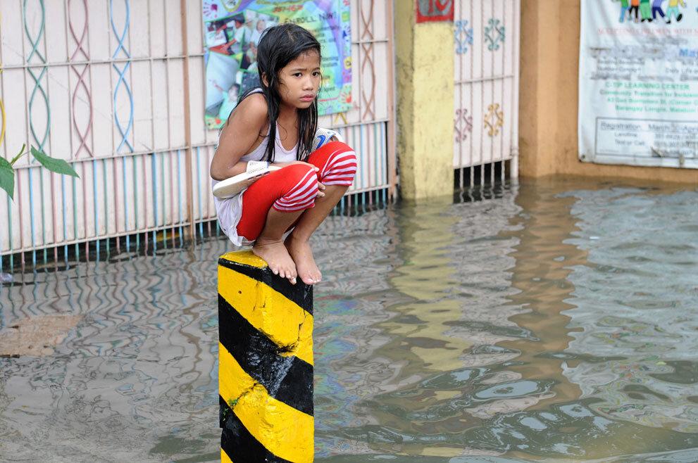 Филиппины, ливневые дожди, тайфун и наводнение. 8-го августа 2012-го года
