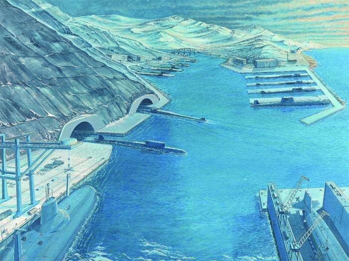 Советские стратегические атомные подводные лодки.