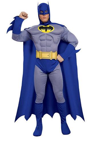 Мужской карнавальный костюм Бетмен (синий)