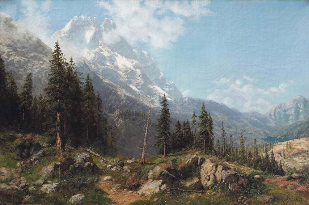«Лес в горах» Последняя треть XIX в. холст, масло.jpg