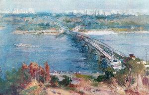 Сергій Шишко. Міст метро. 1977.