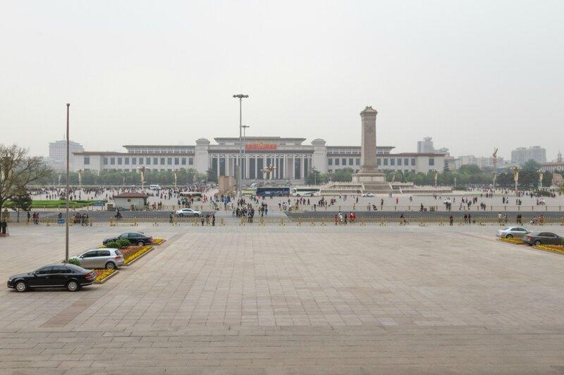 Вид на площадь Тяньаньмэнь и Национальный музей