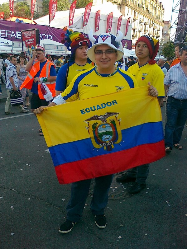Гости Евро 2012 - фаны из Эквадора