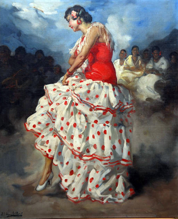 Художник Франциско Сан-Клементе Родригес