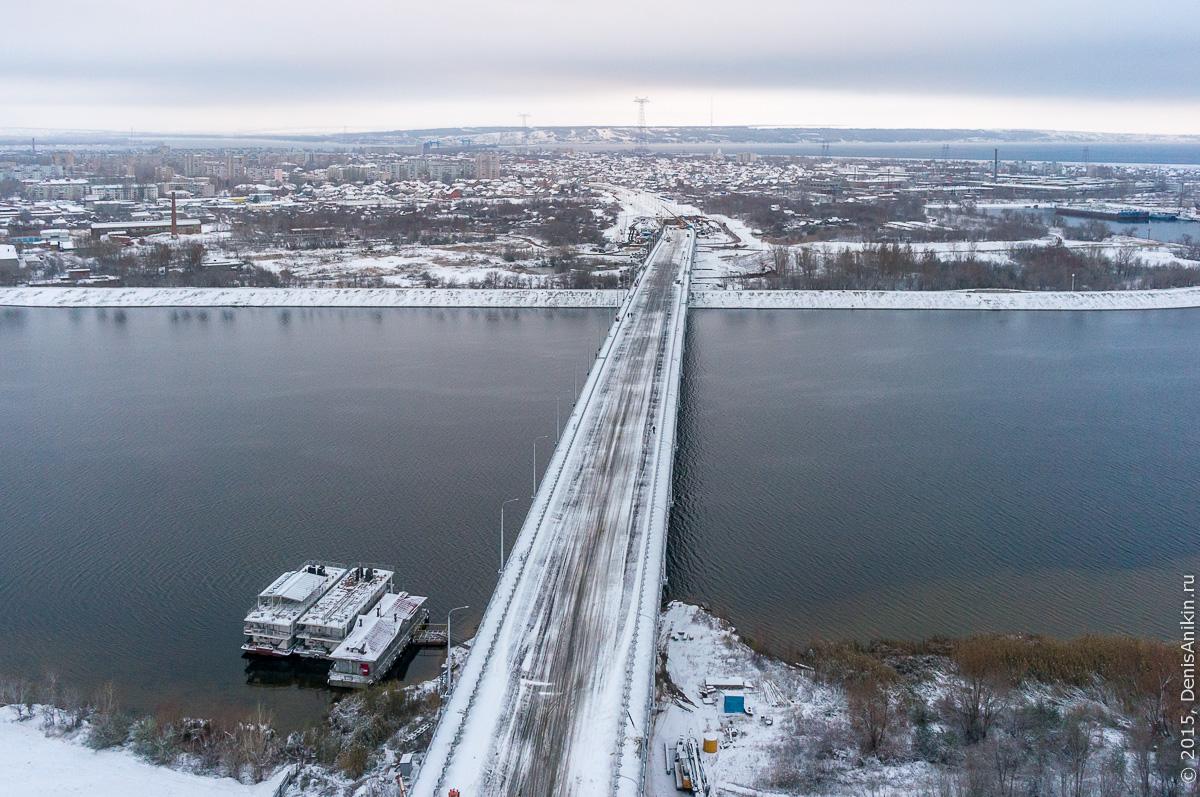 Мостовой переход через судоходный канал в Балаково 18
