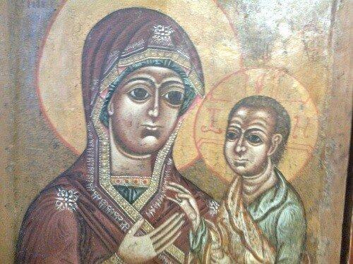 Народная икона в Ферапонтове