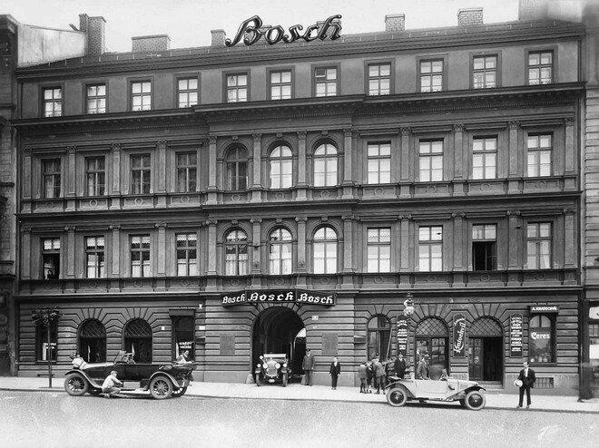 Магазин Bosch в Праге 1925