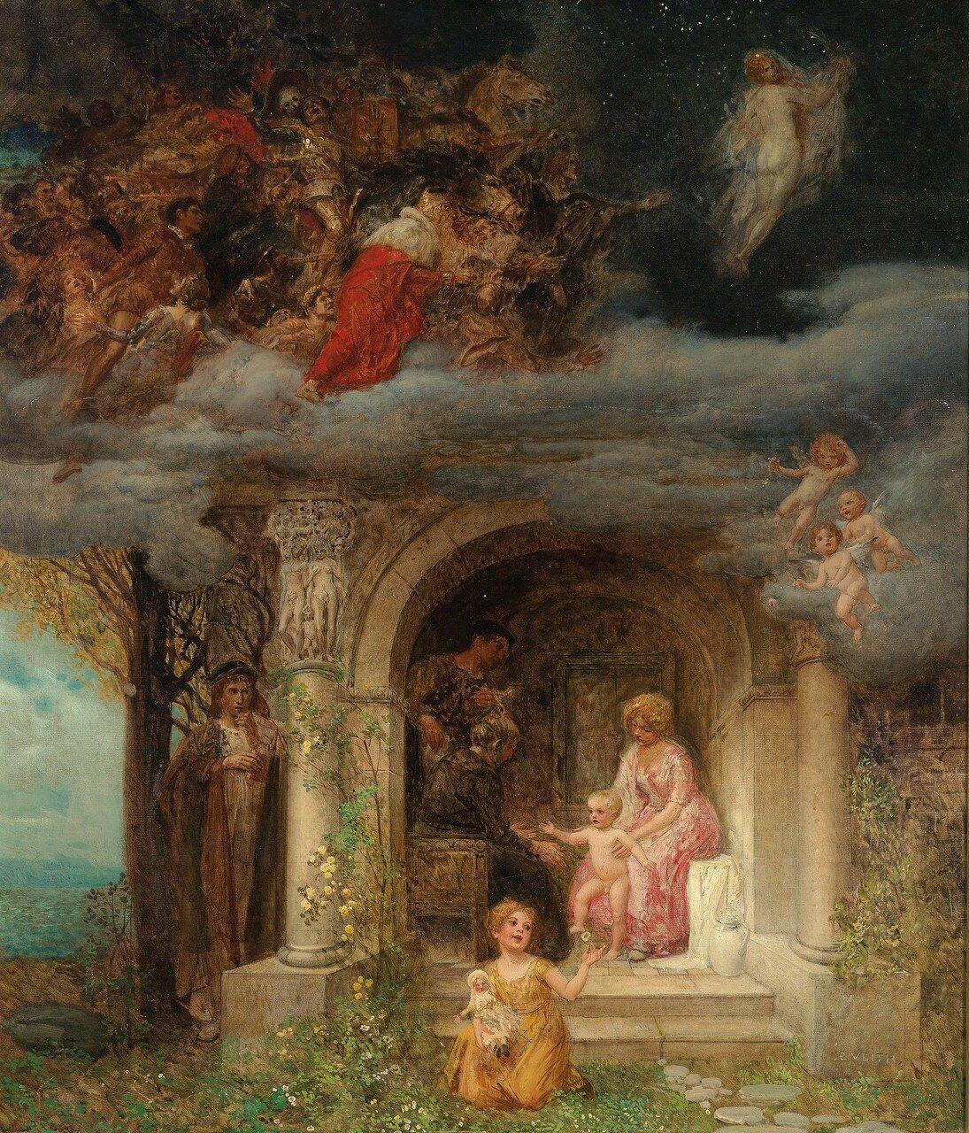 Eduard Veith(Neutitschein 1856-1925 Wien) Allegorische Darstellung, signiert E. Veith