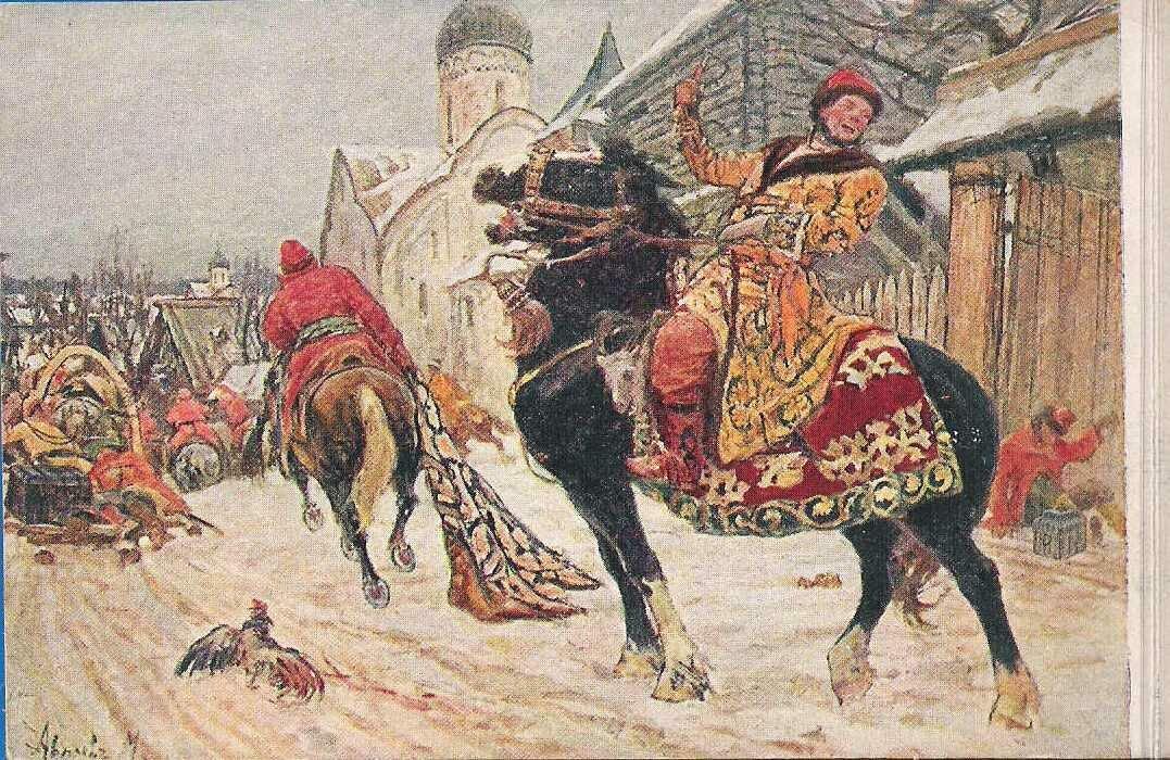 Опричники в Новгороде. Весенняя выставка 1916 года