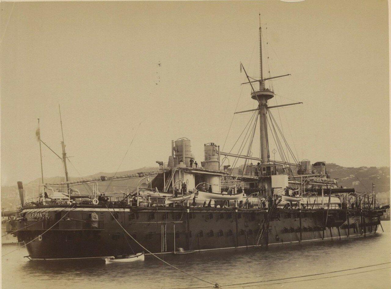 Броненосец Лепанто в порту Генуи