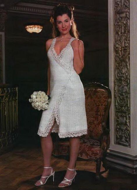 свадебное вязанное схемы платье