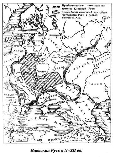 Карта Киевской Руси X-XII века