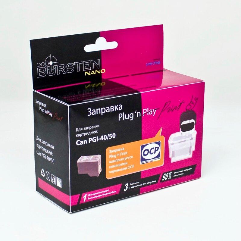 3 контейнера с чернилами OCP на одну заправку каждого цвета.  Для заправки цветного картриджа принтеров и МФУ Canon...